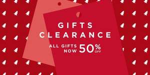 50% Gift clearance now on @ BHS