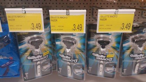 Gillette Mach 3 Razor + 1 blade £3.49 in-store @ B&M Hexham.