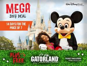 Disney World Tickets ONLY , 14 days for the price of 7 PLUS Free Gatorland Ticket included! £289 PER PERSON @ Florida tix