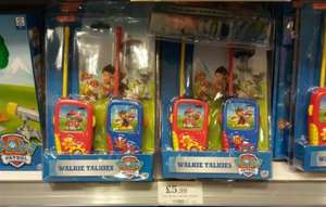paw patrol walkie talkies, £5.99 instore at home bargains.