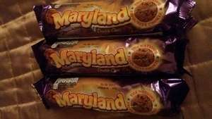 Maryland Double Choc Cookies 145g in-store @B&M Hexham 3 for £1 Dated Sept 2017.