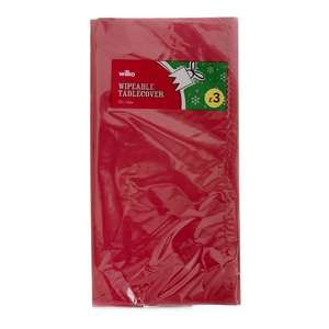 Wilko Christmas Wipeable Tablecover Gold/Red/Silver Half Price £1.50, Matching Napkins (£1.25) and Food charger Plates( £1.00) also half price Instore