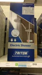 Triton 10.5 kW Electric Shower £59 @ Homebase online and instore!