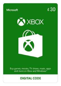 £30 Xbox Live Credit (Digital Code) for £25.90 @ Amazon