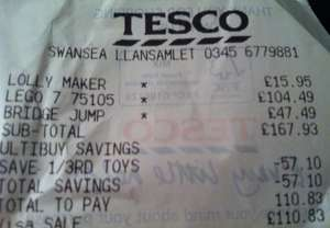Thomas & friends trackmaster - sky high bridge jump instore at Tesco for £31.66