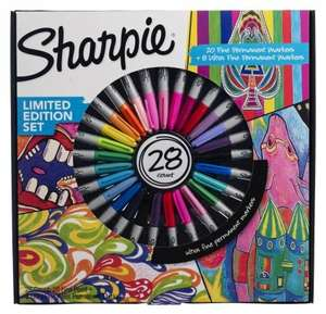 28 sharpie pen deal in WH Smith's limited edition for £12.99