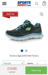 Sketchers Kids Trainers Reduced from £39.99 to £10 + postage @ Sports Direct