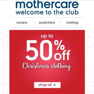 Mothercare Christmas clothing up to 50% OFF!