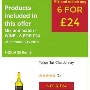it's back Asda wine 6 bottles for £24 from now until Christmas Eve