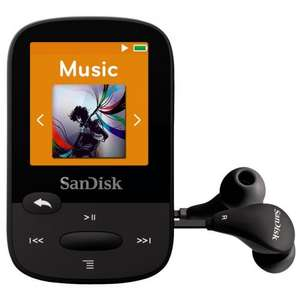 SanDisk Clip Sport MP3 Player 4GB - Black (Refurbished), £18.99 delivered from picstop