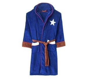 selection of character dressing gowns. Argos Discounted to £19.99 captain America,  star wars, Batman, Dell boy, Superman etc