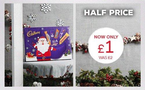 Cadbury Medium Chocolate Selection Box 180g, £1 - Saturday ONLY at Iceland