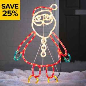 25% off Christmas decorations and lights at B&Q
