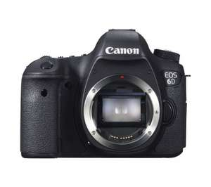 Canon 6D body only £1049 (with additional possible £100 cashback) @ Currys