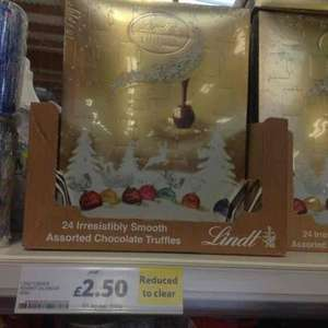 Lindt advent calendar was £10 now £2.50 instore at Tesco
