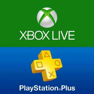 PS PLUS or XBOX LIVE GOLD 12 Months £33.99 @ electronic first