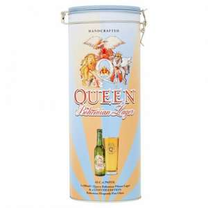 QUEEN LIMITED EDITION 40TH ANNIVERSARY BOHEMIAN BEER TIN SET - £7 @ Morrisons