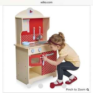 Kids Wooden Play Kitchen £24 @ Wilkinsons