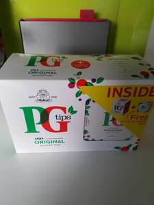 PG Tips 160 bags + free fruit tea selection £1 @ B&M