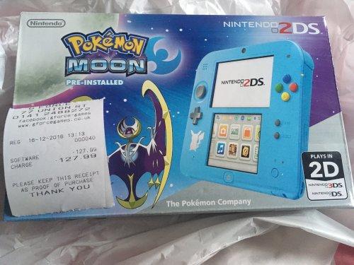 Pokemon sun/moon 2DS console £127.99 @ G-Force Instore