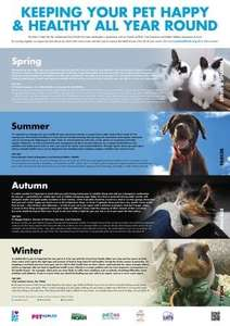 Free seaonal pet healthcare wall planner from the Pet Health Info website