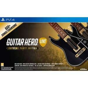 Guitar hero live supreme party edition with 2 guitars on PS4 and XBox one now £29.99 delivered @ Smyths