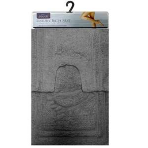 Luxury Touch 2 Piece Bath Mat & Pedestal Mat Non Slip Washable Only £5.99 with free delivery @ Ebay-Pink_and_blue_gifts (14 colours)