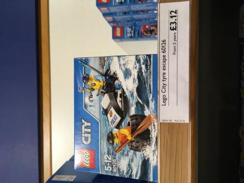 Lego 60126 Tyre escape. £3.12 John lewis online / instore