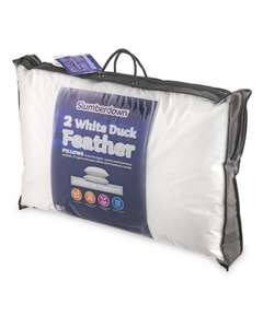 Slumberdown Duck Feather Pillow Pair £ 9.99 @ Aldi [orderonline / in-store on sunday 18th dec]