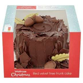 waitrose red velvet tree trunk cake as seen on TV advert half price for one day only £12 down to £6