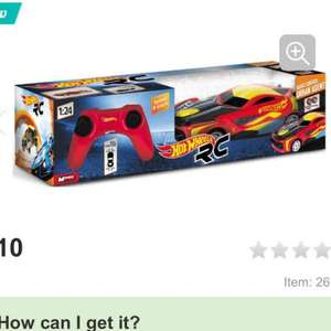 Hot Wheels Remote Control Car 1:24 £10.00 @ halfords free c&c