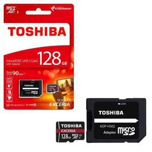 Toshiba Exceria M302 128GB Micro SD Memory Card @ 7dayshop £23.74 with code