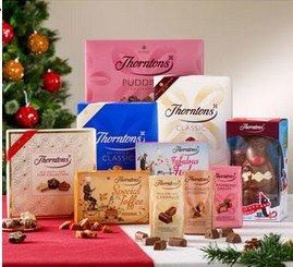 Thorntons Christmas Share or Xmas Mega Bundles £25 plus 10% cashback with TopCashback