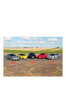Virgin Experience Days Five Supercar Blast Was £239.99 Now £109.00 Save £130.99 at Very