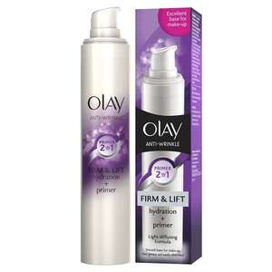 Olay Anti-Wrinkle Firm and Lift 2-in-1 Moisturiser and Anti-Ageing Primer, 50 ml (Add on item) - £3.33 @ Amazon