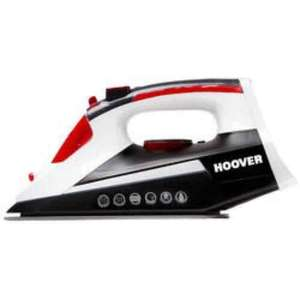 £14.98 - Hoover TIM2501C Ironjet Steam Iron Black White & Red @ Appliances Direct