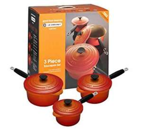 Le Creuset 3 Piece Saucepan Set @ Amazon - Lightning Deal - £194.99 LIVE TODAY