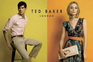 30% off Ted Baker + Free delivery on all orders. Selected lines only