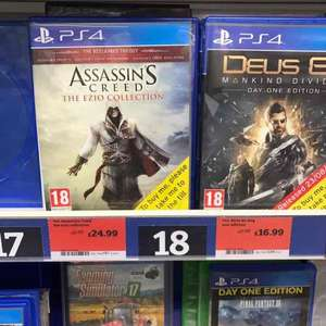 Assassins Creed The Ezio Collection (PS4) & (XB1) @ Sainsbury's £24.99