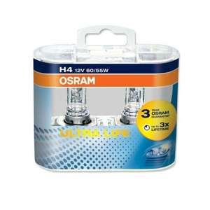 OSRAM H4 ultra life. Twin pack . Free economy delivery. £5.09 euro car parts.