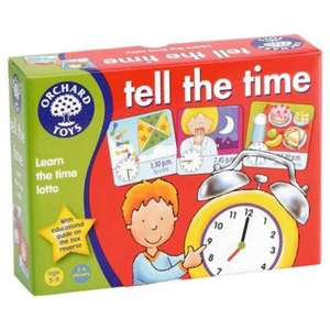 Orchard Toys Tell The Time game £2.97 at Tesco.direct.com - free click and collect.