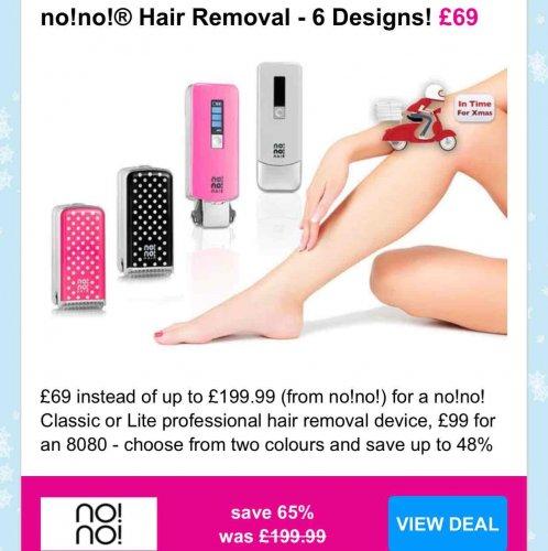 no!no! Hair Removal £69 wowcher.com