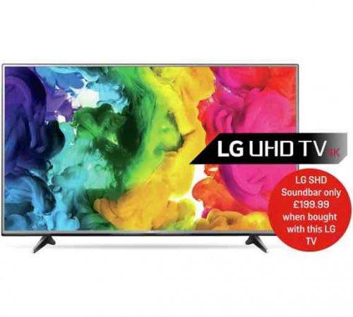 LG 55UH615V 55 Inch Ultra HD 4K Web OS Smart LED TV. £579 @ Argos