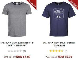 £25 Saltrock T-shirts for £2.50 £25 Saltrock T-shirts for £2.50 (others starting from £1.50 free delivery over £30 or free C&C) w/ code
