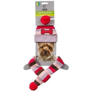 Doggy Hat & Scarf Set £1.99 @ b&m
