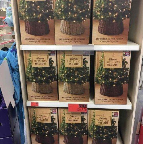 Wicker Christmas tree skirt £6.99 @ B&M