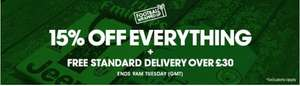 15% off everything at Kitbag, plus free delivery when you spend over £30