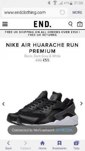 Nike Air Huarache £44.20 @ End Clothing