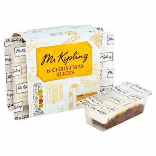 Mr Kipling Christmas Slices 6 Pack B&M 69p