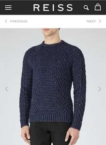 REISS sale, chunky knit jumper down from £110 to £65